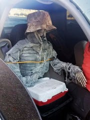 This dummy skeleton was found strapped to the passenger seat during a traffic stop for an HOV lane violation in Phoenix.