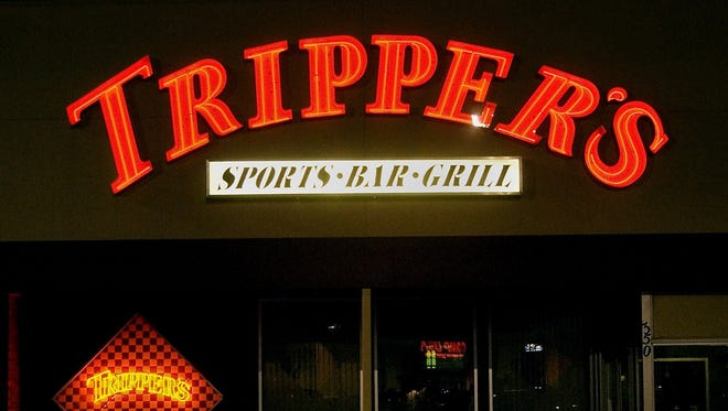 Exterior of Tripper's Sports Bar in Lansing.