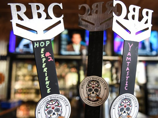 Tap handles for Rotunda Brewing Company at the Batdorf in Annville on Wednesday, Aug. 31, 2016.