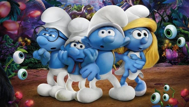 """Smurfs: The Lost Village"" features Ariel Winter, Michelle Rodriguez and Joe Manganiello."