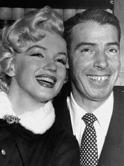 Marilyn Monroe and Joe DiMaggio in a judge's chambers