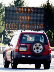 Friday, April 20, 2019--Loucks Road in West Manchester Township will become a one-lane road for four months starting at the end of the April, according to a notice on the township's website. Bill Kalina photo