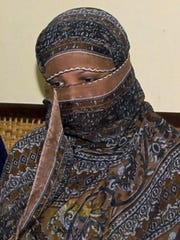 In this Nov. 20, 2010, file photo, Asia Bibi, a Pakistani