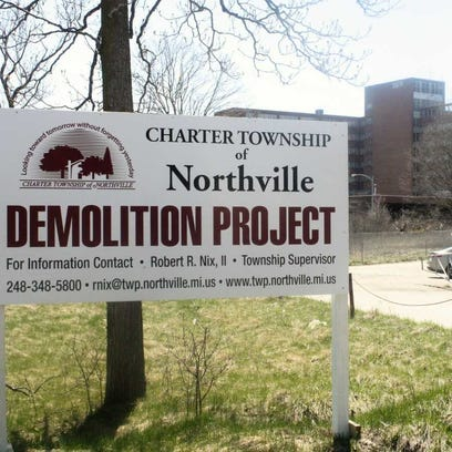 The demolition process has started on the vacant Northville