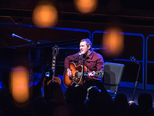 Brian Fallon from the Gaslight Anthem gave a solo acoustic performance at the Count Basie Theatre in Red Bank on Sunday, January 14, 2018.