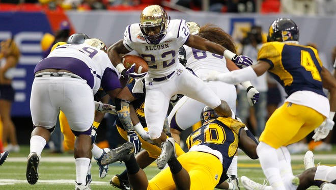 Alcorn State running back Darryan Ragsdale was limited to 39 yards on 15 carries against North Carolina A&T in the Celebration Bowl.