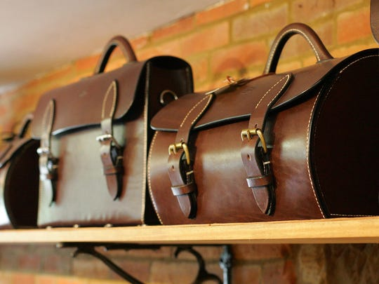 Dennis Knight crafts one-of-a-kind valises and portmanteau hand luggage, as well as leather briefcases and custom orders.