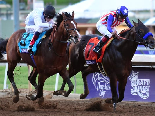 Breeders Cup Roundup Bayern Wins Classic By A Nose