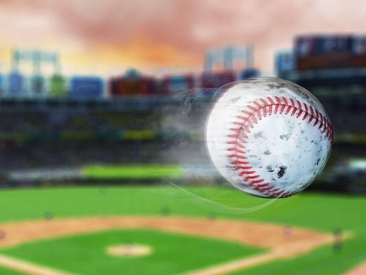 3d illustration of flying baseball leaving a trail of smoke.