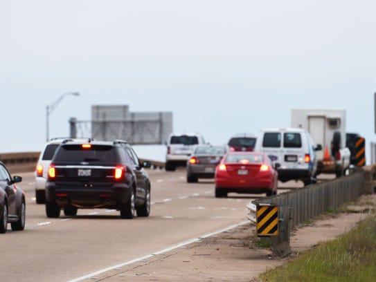 Traffic moves along Interstate 20 in Bossier Parish.