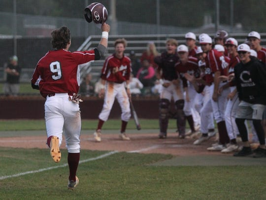 Chiles' Danny Andzel heads towards home after hitting a solo home run in the sixth inning of a 4-2 win over Lincoln.