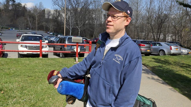 Greg Golinski, of Ossining, spoke about the closing of the Fairview Golf Center after practicing his game at the driving range Saturday. The golf center will be closing for good this coming Friday. Golinski said that he will have to travel farther to other driving ranges in the area.