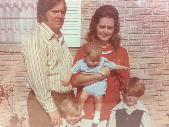 Russell and Jackie Foote with sons, Marcus, Jason and