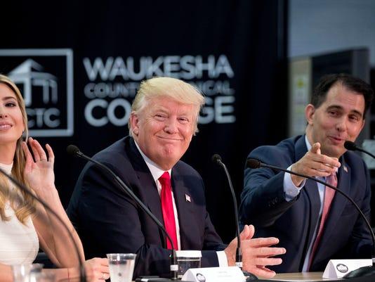 Donald Trump, Ivanka Trump, Scott Walker