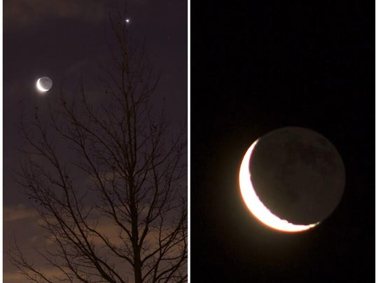 Eric Teske of Indianapolis shared this photo of the conjunction of the crescent moon with Venus this morning. Do you have a great pic to share with us? Tweet me @heycori, post it on the Star's Facebook wall or email it to me at heycori@indystar.com!