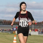 Seaholm High School's Rachel DaDamio was third in the two-mile race at the New Balance Outdoor Nationals last week.