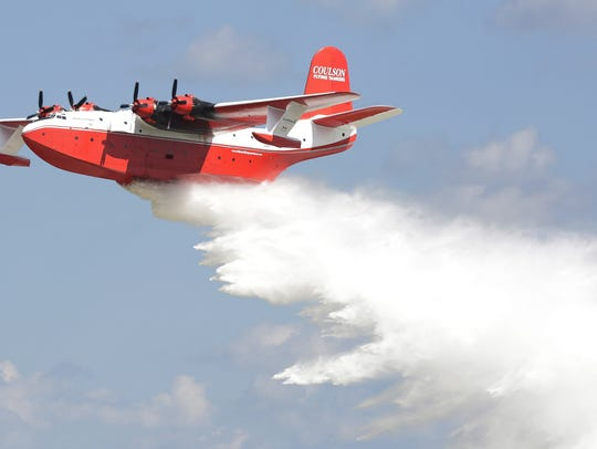 The Martin Mars Water Bomber made it's presence known