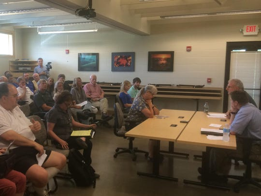 A public hearing about the proposed expansion of Augustian