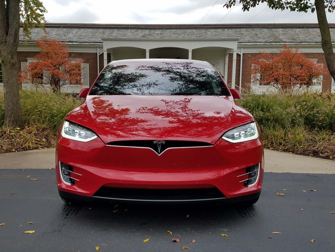 The Tesla Model X gets the brand's latest grille treatment