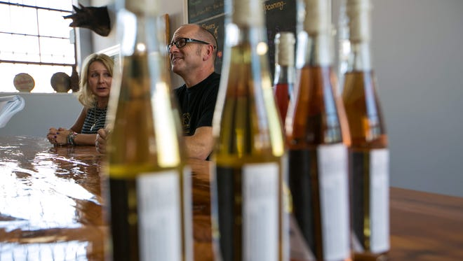 Terri Sorantino and Jeffrey Cheskin are the founders of Delaware's first and only meadery, Liquid Alchemy Beverages near Elsmere. They make traditional honey wines and are holding their grand opening Sept. 10.