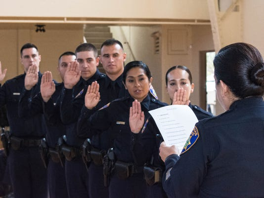 Salinas PD swearing in