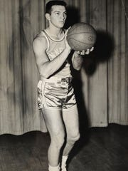 Buddy Cruze, star athlete at East High School, captain of the 1952 All-State basketball and football teams.  At the University of Tennessee Cruze was a teammate of Johnny Majors. (KNS Archive)