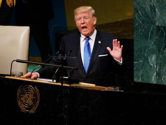 Donald Trump, presidente de EU.