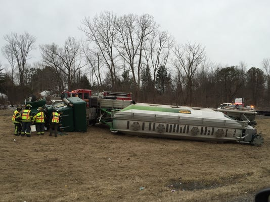 I-84 Truck overturned March 20 2015