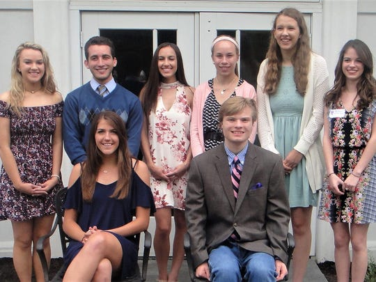 The Morris County Retirees Education Association (MCREA) awarded $2,000 scholarships to students pursuing a career in education. Pictured standing left to right are Elizabeth Pichowicz, Lucas Folan, Lauren Measley, Laura Boysen, Kelly Edwards, Heather Santiago. Seated left to right are Victoria Bobinski, Andrew Ziegler. Not pictured are Julia Nixon, Allison Furman, Jared Badalamenti, Jenna Pontrelli, Kristen Cefaloni, Angela Lengner, Leah Cloughley.