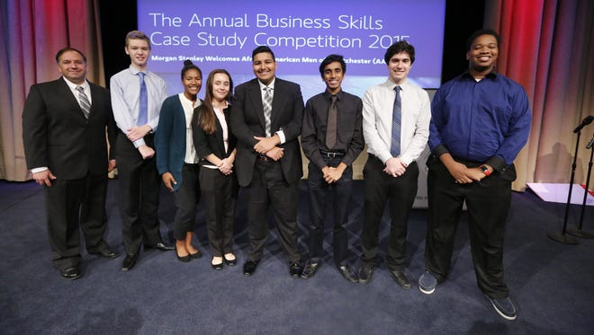 The team from Yonkers' Saunders Trades and Technical High School took third place in the Business Skills Competition.