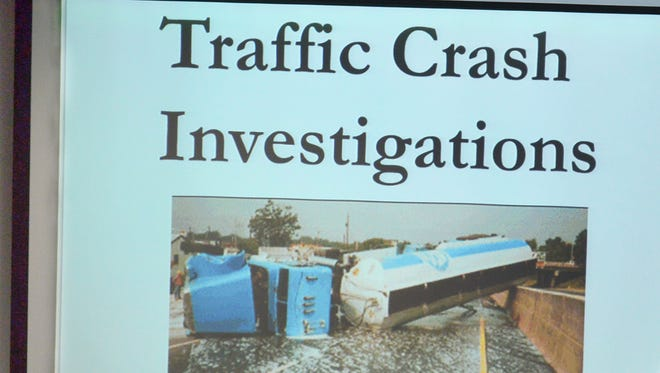 Lt. Frank Hanousek of the Marathon County Sheriff's Department explains how police investigate crashes in this file photo from March.