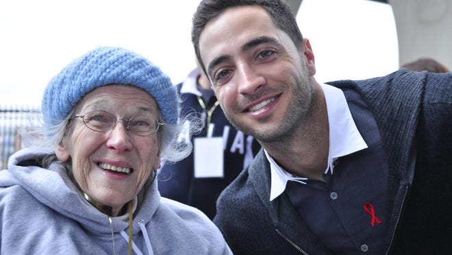 Shirley Brey-Traas posed for a photo with Milwaukee Brewers hitter Ryan Braun two years ago when Braun was the AIDS Walk Wisconsin honorary chairman.