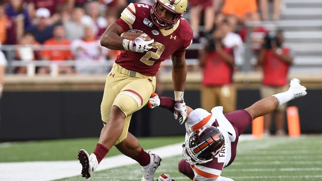 Boston College running back AJ Dillon will add depth to a backfield that's key for Matt LaFleur's offense.