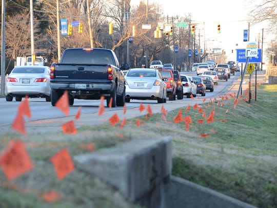 Construction begins Saturday on the long-awaited Middle Tennessee Boulevard improvement project. Lane shifts are reducing the street to one lane in each direction. The 30-month, $15.7 million project will upgrade the .8-mile section of the thoroughfare between Greenland Drive and East Main Street. Completion is expected by fall 2018.