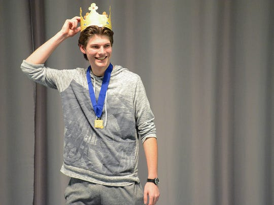 Stuart Burns was the king of the podium during the Junior 60 Shot pistol event – earning first overall.