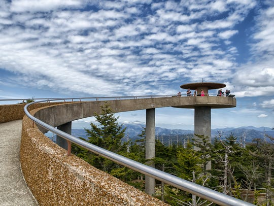 Clingmans Dome Observation Tower in Great Smoky Mountains