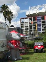 Alabama fans at Camping World Stadium in Orlando, Florida,