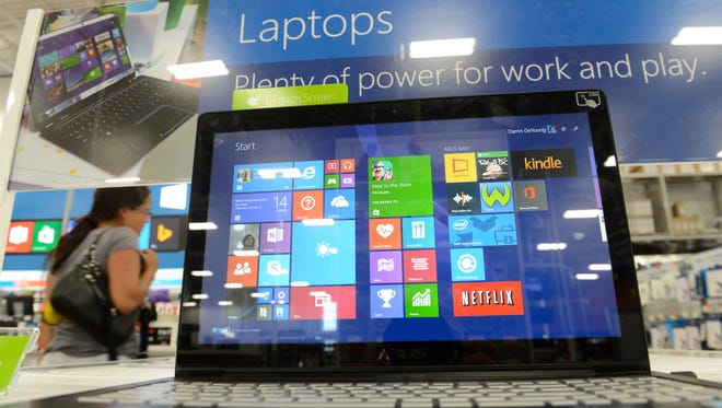 A computer for sale at Best Buy