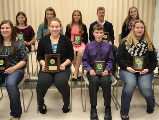 4-H members were recognized for Outstanding Achievement
