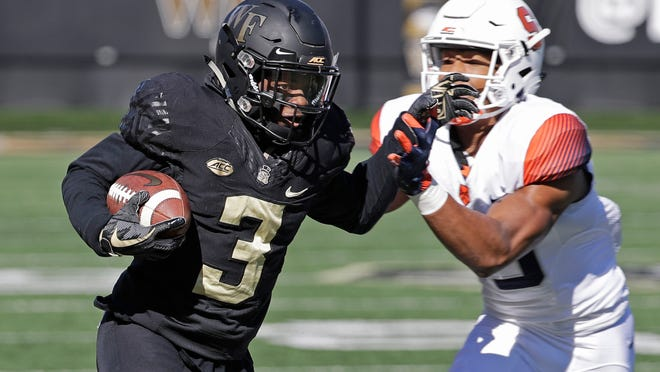 Wake Forest's Greg Dortch (3) is an All-American.