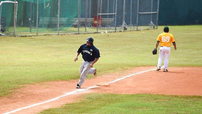 In this June 23 file photo, the Southern Rangers faced the C-Men'z in a 2018 Guam Masters Baseball League game at Paseo Stadium.