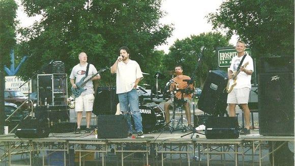 Me, singing a John Mellencamp song outside Buffalo