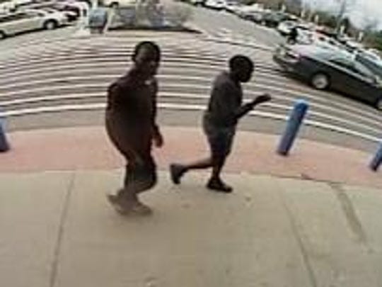 Police are seeking these two men for a shoplifting incident at a Walmart in Marlton.
