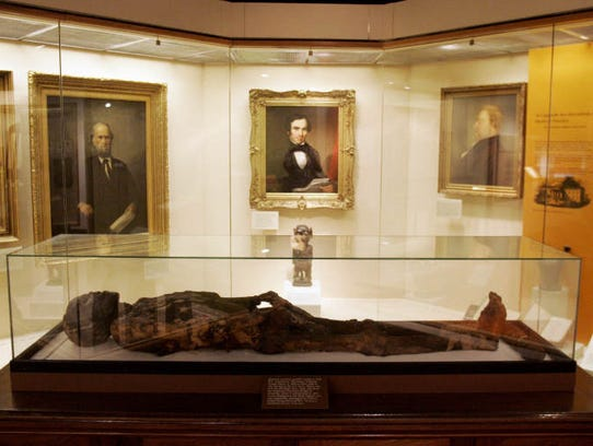 This Egyptian mummy at the Tennessee State Museum has been on display in Nashville since 1937.