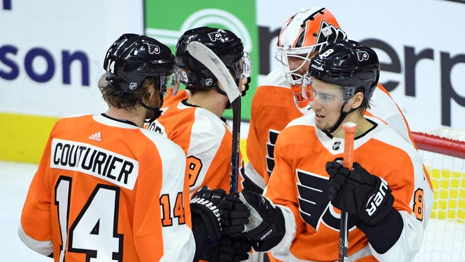 The Flyers are hoping to get more wins in their stretch of seven straight games against the Eastern Conference.