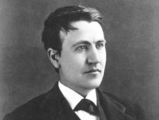 Inventor Thomas Edison as a young man.