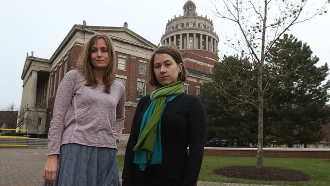 """Jessica Cantlon and Celeste Kidd, associate professors, in the Brain and Cognitive Sciences at the University of Rochester were two of """"The Silence Breakers"""" in Time's Person of the Year.  They had spoken up about sexual harassment by professor Florian Jaeger."""