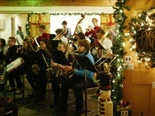 The Sheboygan South High School Jazz Ensemble plays Christmas tunes at the Quarryview Center on Dec. 9.