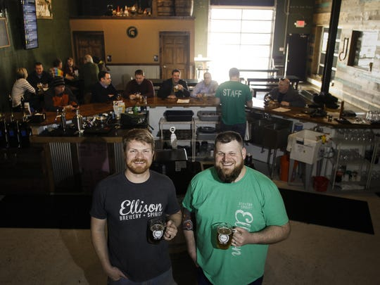 Ellison Brewery and Spirits co-owners Aaron Hanson