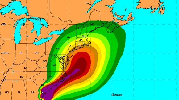 This Friday map issued by the National Hurricane Center